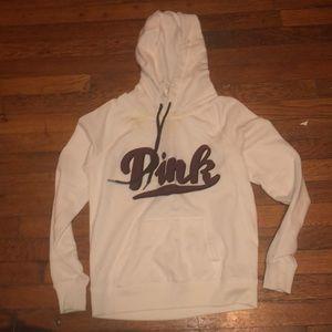 PINK Victoria's Secret hooded sweatshirt cream S